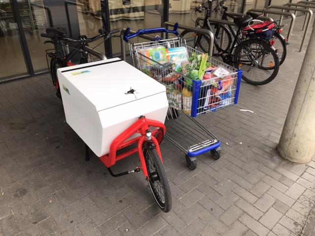 Lastenrad für Wocheneinkauf