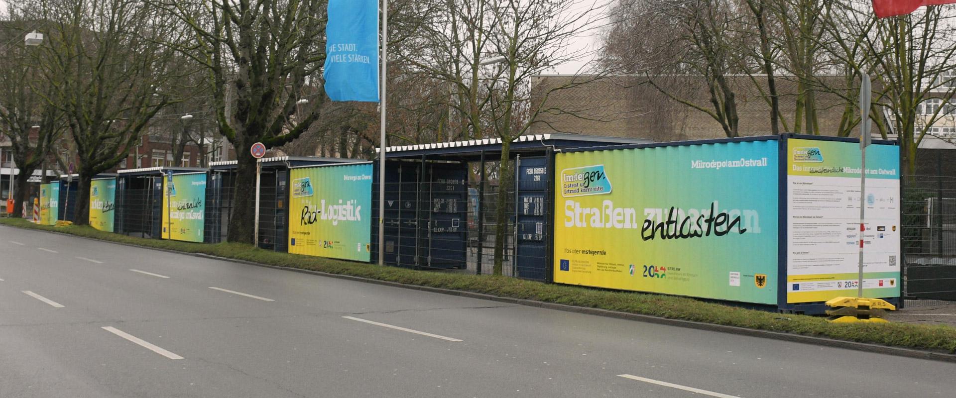 Mikrodepot am Ostwall in Dortmund mit UmsteiGERN-Folierung