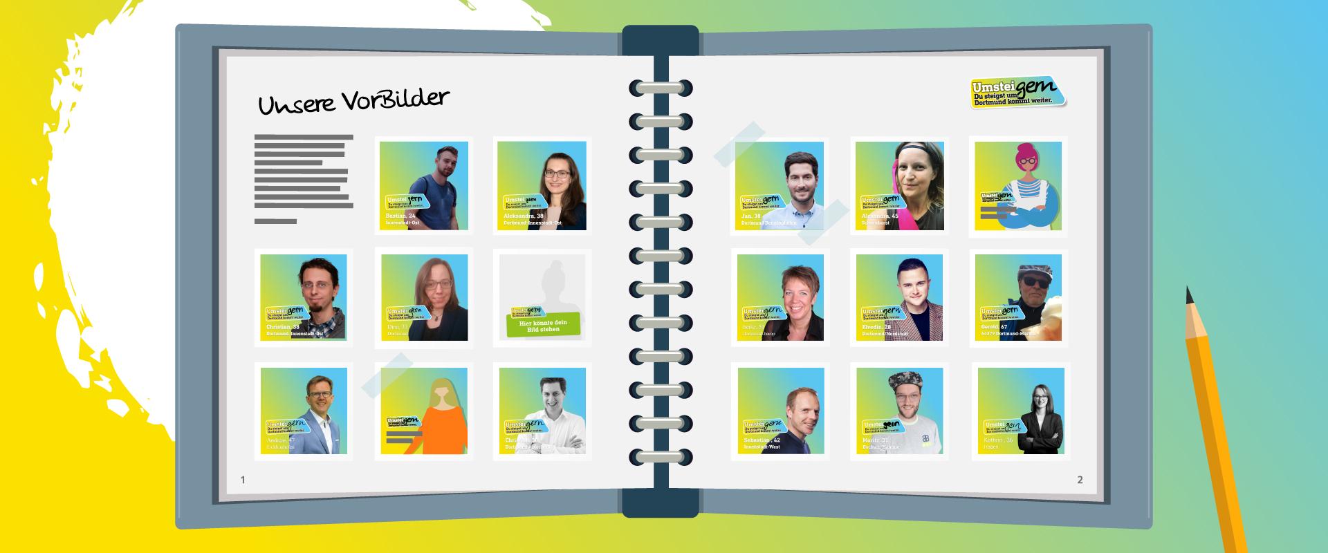 Die VorBilder von UmsteiGERN aus Dortmund im Sammelalbum