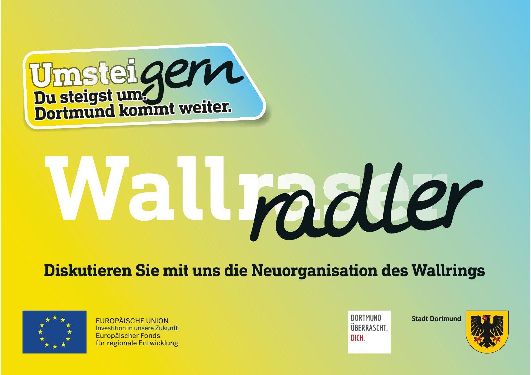 "Kampagnenmotiv zum Digitalen Dialog Wallring mit Text ""Wallraser"" wird zu ""Wallradler"""