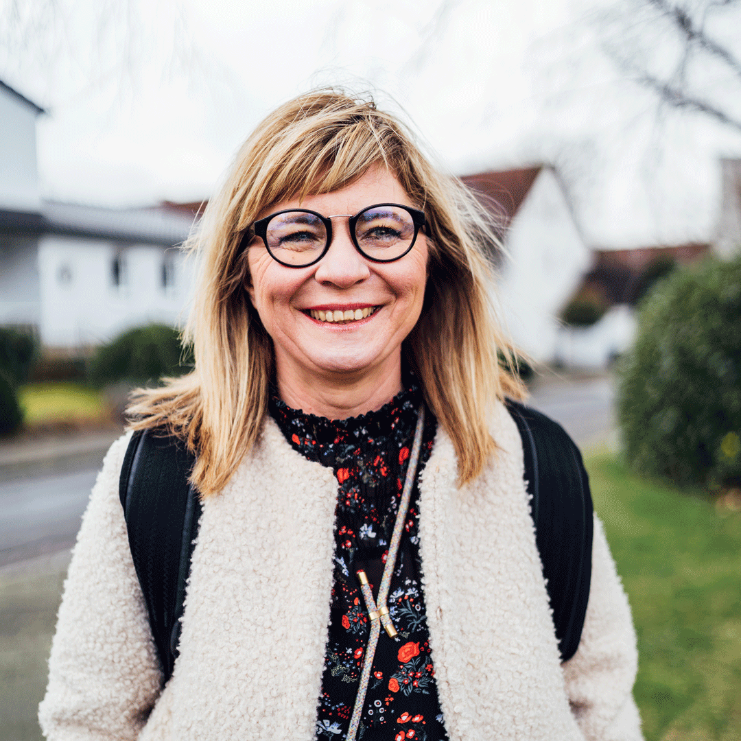 Sebina läuft als UmsteiGERN-Botschafterin durch Dortmund