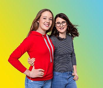 UmsteiGERN-Botschafterinnen Pia und Mia setzen sich für das Projekt Emissionsfreie Innenstadt Dortmund ein